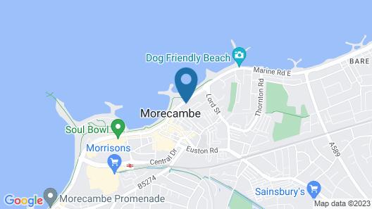The Morecambe Bay hotel Map