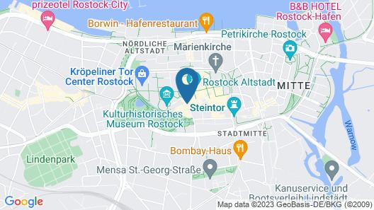 pentahotel Rostock Map