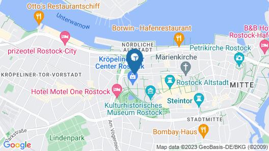 Radisson Blu Hotel, Rostock Map