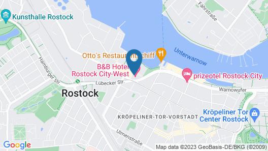 B&B Hotel Rostock City-West Map