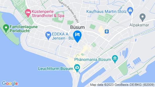 Hotel Dorfkrug Büsum - Altbauteil Map