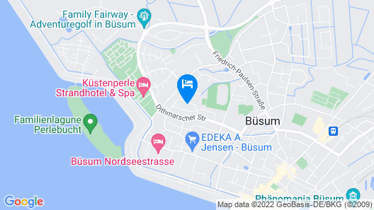 Das Frühstückshotel Büsum Map