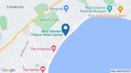 Best Western Palace Hotel & Casino Map