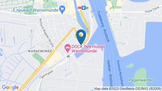 HAFENAPARTMENTS Warnemuende Map
