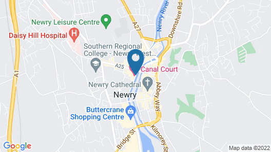 Canal Court Hotel Map