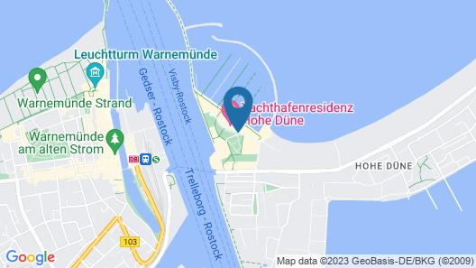 Yachthafenresidenz Hohe Duene Map