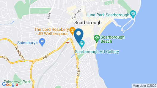 The Central Hotel Scarborough Map