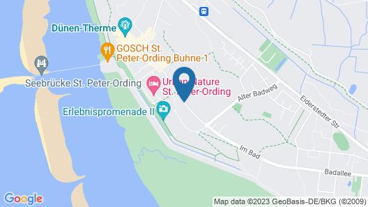 Hotel Landhaus an de Dün Map