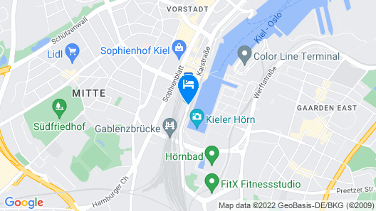 me and all hotel kiel Map