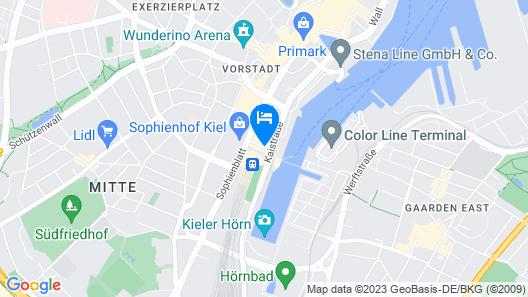 Atlantic Hotel Kiel Map