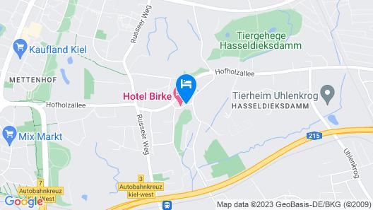 Hotel Birke, Ringhotel Kiel Map