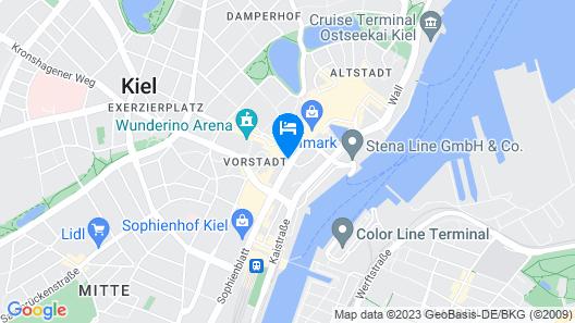 Hotel Astor Kiel by Campanile Map