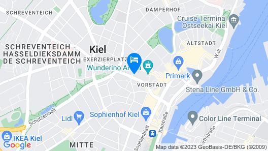 Hampton by Hilton Kiel City Centre Map