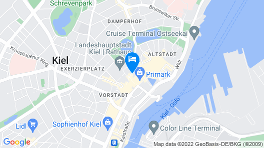 B&B Hotel Kiel-Holstenbrücke Map
