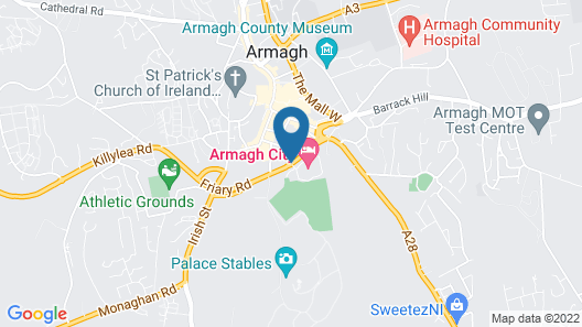 Armagh City Hotel Map