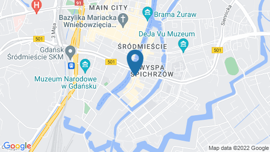 Qubus Hotel Gdansk Map