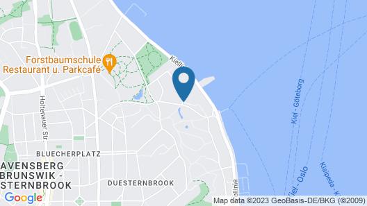 Maritim Hotel Bellevue Kiel Map