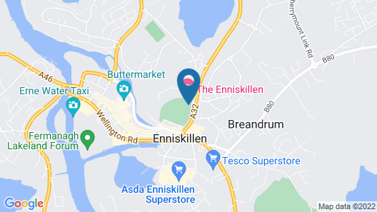 The Enniskillen Hotel Map
