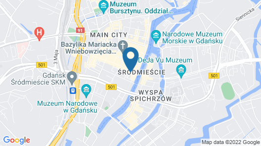Radisson Blu Hotel, Gdansk Map