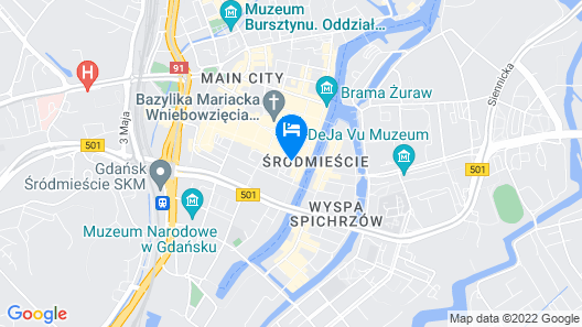 Radisson Blu Hotel, Gdansk Map