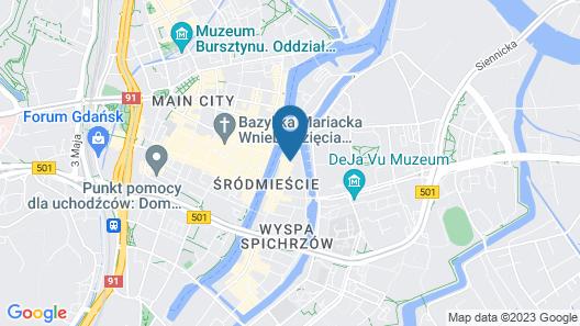 Holiday Inn Gdansk - City Centre Map