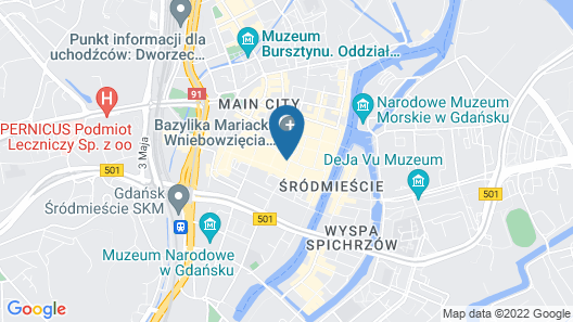 Hotel Artus Map