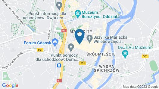 Hampton by Hilton Gdansk Old Town Map