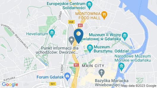 Scandic Gdansk Map