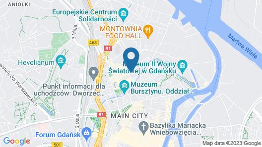 Hotel Mercure Gdansk Stare Miasto Map