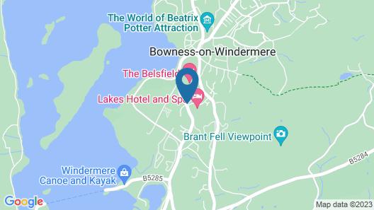 The Burn How Garden House Hotel Map
