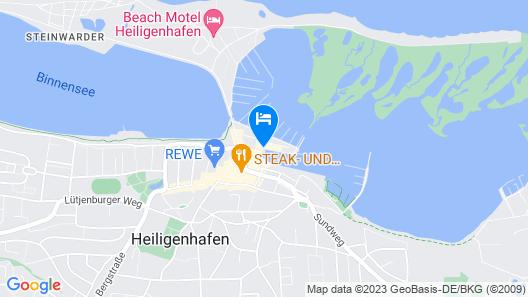 Hafenhotel Meereszeiten Map