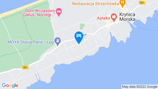 Comfortable Apartment for 5 People in Krynica Morska Map