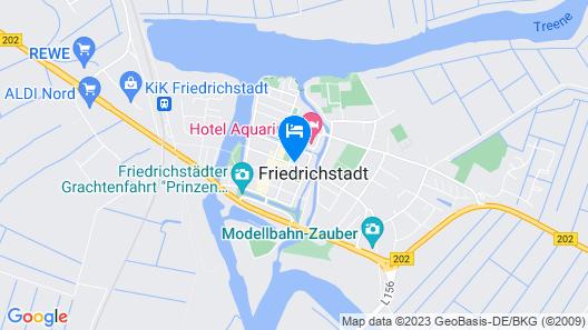 Mooi Hotel Garni Friedrichstadt  Map