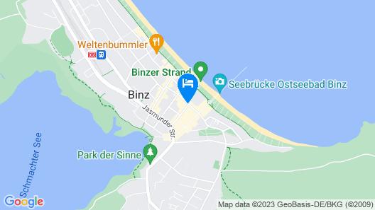 Hotel Vier Jahreszeiten Binz Map