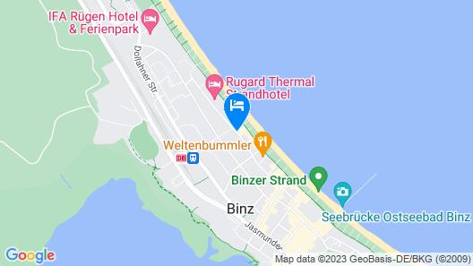 Dorint Strandhotel Binz/Rügen Map