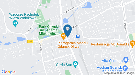Hampton by Hilton Gdansk Oliwa Map