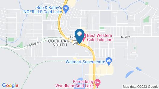 Best Western Cold Lake Inn Map