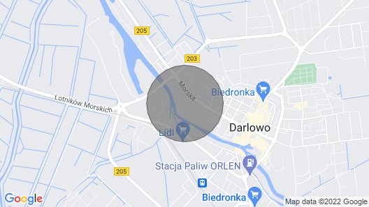 2 bedroom accommodation in Darlowo Map