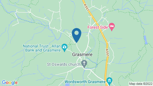 YHA Grasmere Butharlyp Howe - Hostel Map