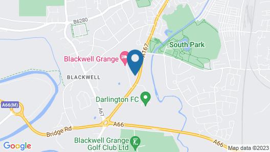 Blackwell Grange Hotel Map