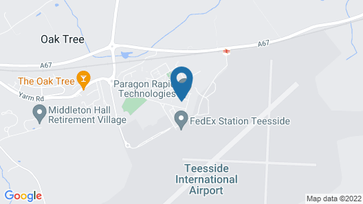 Durham Tees Hotel Map