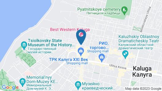 Best Western Kaluga Hotel Map