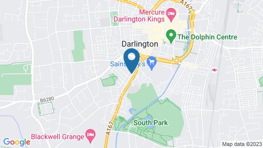 Hotel Bannatyne Darlington Map