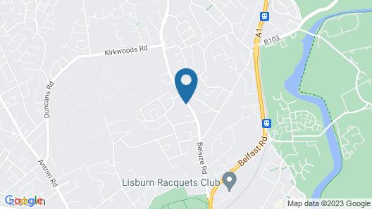 Lisburn Serviced Accommodation Map