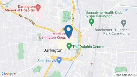 Mercure Darlington Kings Hotel Map