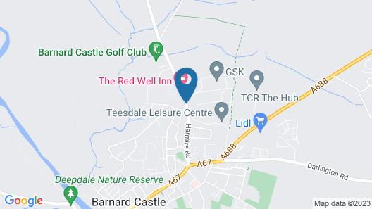 The Redwell Inn Map