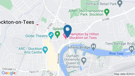 Hampton by Hilton Stockton on Tees Map