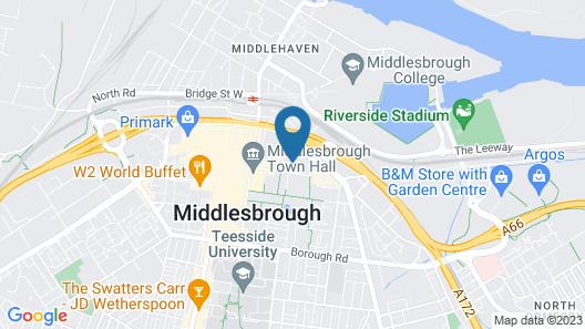 Jurys Inn Middlesbrough Map