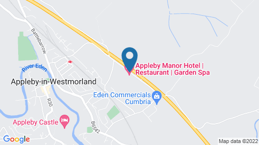Appleby Manor Hotel & Garden Spa Map