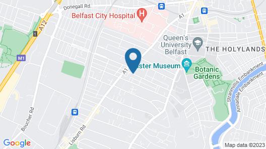Belfast Serviced Apartments - Eglantine Map